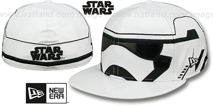 Storm Trooper - 2 'CHARACTER FACE' Fitted Hat by New Era : pictured without stickers that these products are shipped with