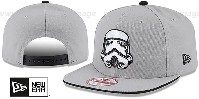 Storm Trooper 'HERO SANDWICH SNAPBACK' Black Hat by New Era : pictured without stickers that these products are shipped with
