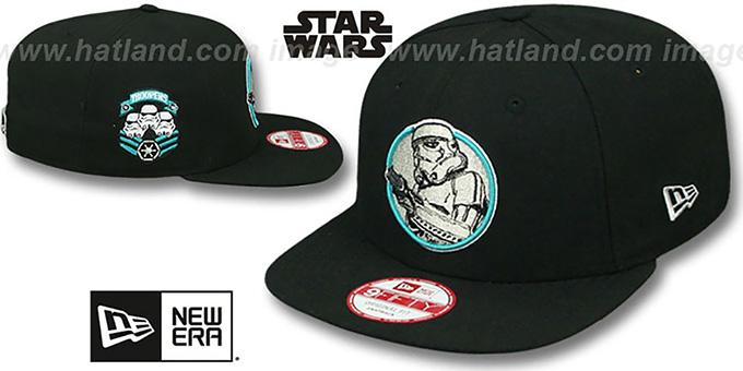 Storm Trooper IV 'RETROFLECT SNAPBACK' Black Hat by New Era : pictured without stickers that these products are shipped with