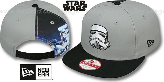 620d5f5ac61f6 Star Wars Storm Trooper QUARTER-SUB SNAPBACK Grey-Black Hat