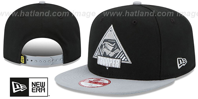 Storm Trooper 'TRIFECT SNAPBACK' Black-Grey Hat by New Era : pictured without stickers that these products are shipped with