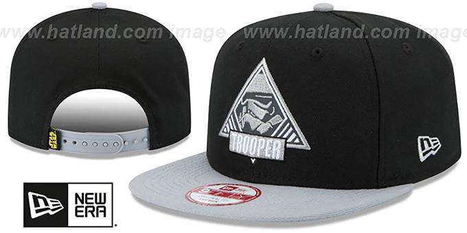ae57eb638c1ad Star Wars Storm Trooper TRIFECT SNAPBACK Black-Grey Hat