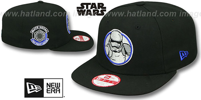 Storm Trooper VII 'RETROFLECT SNAPBACK' Black Hat by New Era : pictured without stickers that these products are shipped with