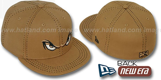 Storm 'WHEAT PURSE STITCH' Fitted Hat by New Era : pictured without stickers that these products are shipped with
