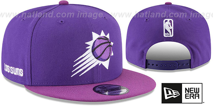 reputable site db488 7a5b8 Suns  CITY-SERIES SNAPBACK  Purple-Purple Hat by New Era
