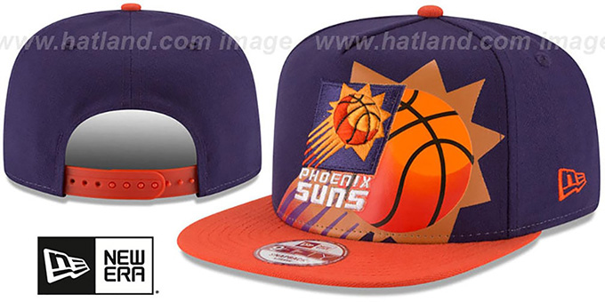 Suns 'NBA JERSEY MURAL SNAPBACK' Hat by New Era : pictured without stickers that these products are shipped with