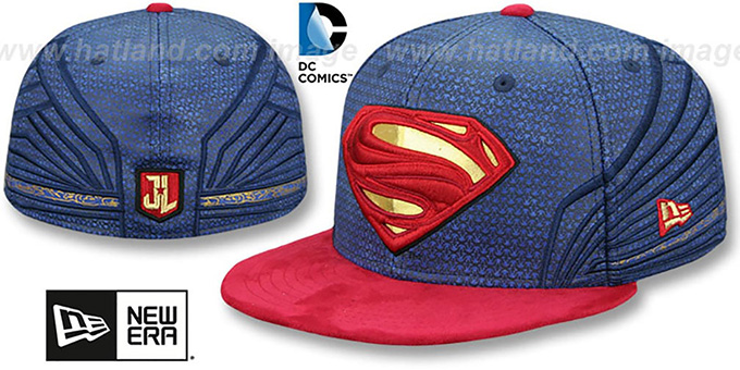b21af2a32e9 Superman CHARACTER JUSTICE LEAGUE Fitted Hat by New Era
