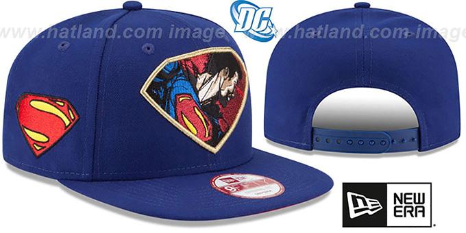 eb72e101a1bc2 DC Superman RETROFLECT SNAPBACK Royal Hat by New Era