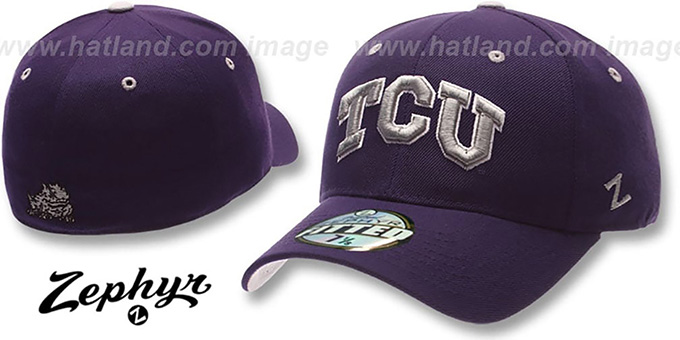 Texas TCU DH Purple Fitted Hat by Zephyr f36565ad35e