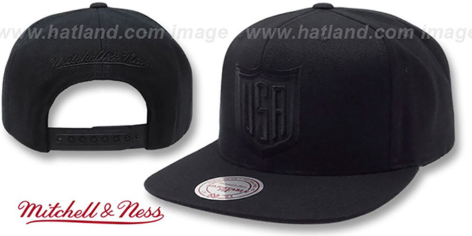 Team USA TONAL 'SHIELD SNAPBACK' Black Hat by Mitchell and Ness : pictured without stickers that these products are shipped with