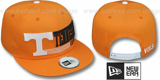 Tennessee 'RETRO-SNAPBACK' Orange Hat by New Era : pictured without stickers that these products are shipped with