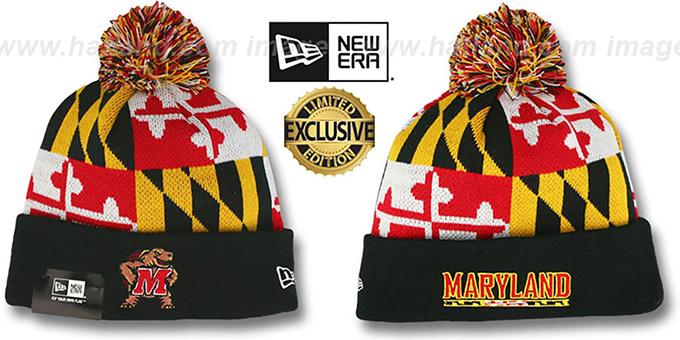 7f039717db8 Terps  TURTLE MARYLAND-FLAG POM-POM  Knit Beanie Hat by New Era