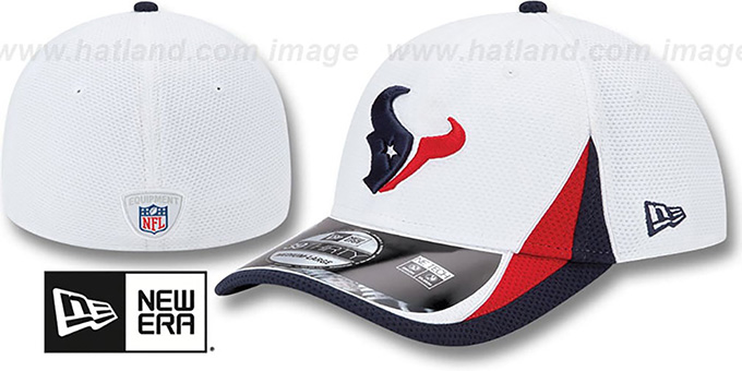 Texans '2013 NFL TRAINING FLEX' White Hat by New Era : pictured without stickers that these products are shipped with