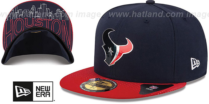5e1cd3c7c69 Houston Texans 2015 NFL DRAFT Navy-Red Fitted Hat by New Era