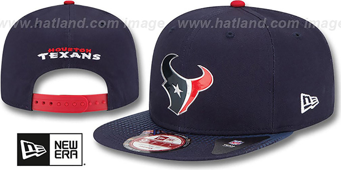 Texans '2015 NFL DRAFT SNAPBACK' Navy Hat by New Era : pictured without stickers that these products are shipped with