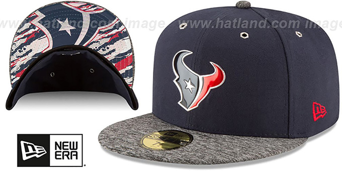 Texans '2016 NFL DRAFT' Fitted Hat by New Era : pictured without stickers that these products are shipped with