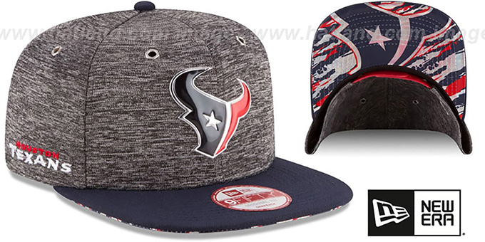 Texans '2016 NFL DRAFT SNAPBACK' Hat by New Era : pictured without stickers that these products are shipped with