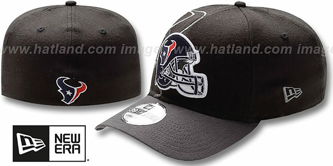 Texans 'NFL BLACK-CLASSIC FLEX' Hat by New Era : pictured without stickers that these products are shipped with