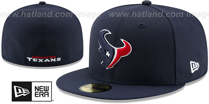 Texans 'NFL TEAM-BASIC' Navy Fitted Hat by New Era