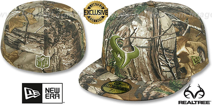 9635c81e5 Texans NFL TEAM-BASIC Realtree Camo Fitted Hat by New Era
