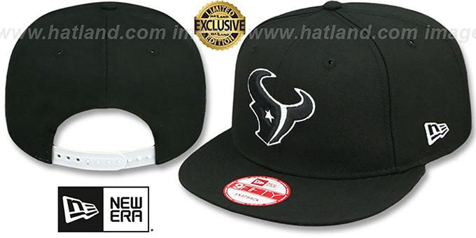 innovative design 33c97 2fef3 Texans  TEAM-BASIC SNAPBACK  Black-White Hat by New Era