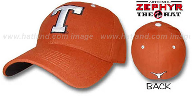 Texas 'DH' Fitted Hat by ZEPHYR : pictured without stickers that these products are shipped with