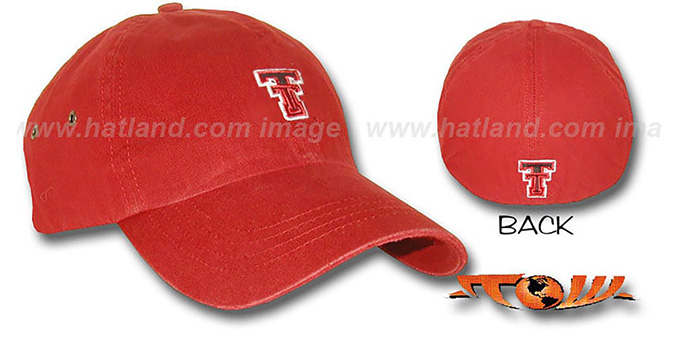 Texas Tech 'RUGGED' Fitted hat by Top Of The World : pictured without stickers that these products are shipped with