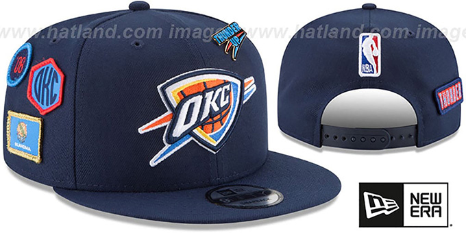 premium selection 992c6 cb27d Oklahoma City Thunder 2018 NBA DRAFT SNAPBACK Navy Hat by New Era. Thunder   2018 NBA DRAFT SNAPBACK  Navy Hat by ...