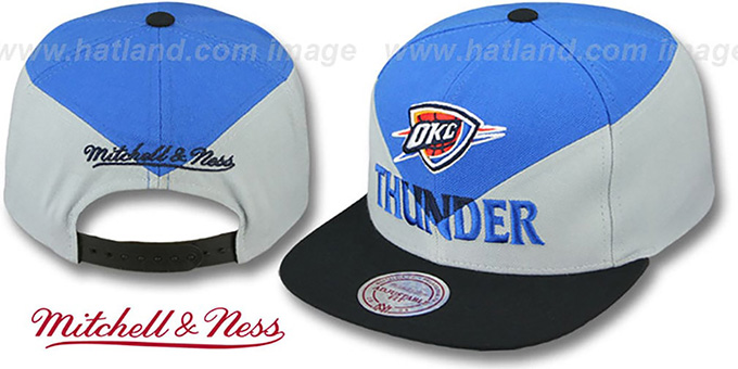 Thunder 'AMPLIFY DIAMOND SNAPBACK' Blue-Grey Hat by Mitchell and Ness : pictured without stickers that these products are shipped with