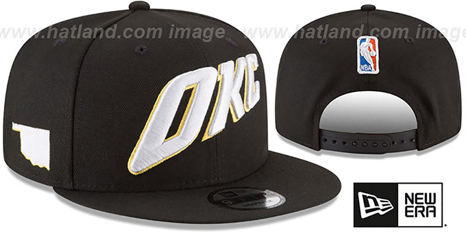 Thunder 'CITY-SERIES SNAPBACK' Black Hat by New Era : pictured without stickers that these products are shipped with