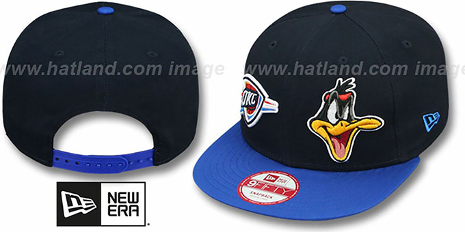 Thunder 'DOUBLE-WHAM DAFFY DUCK SNAPBACK' Hat by New Era : pictured without stickers that these products are shipped with