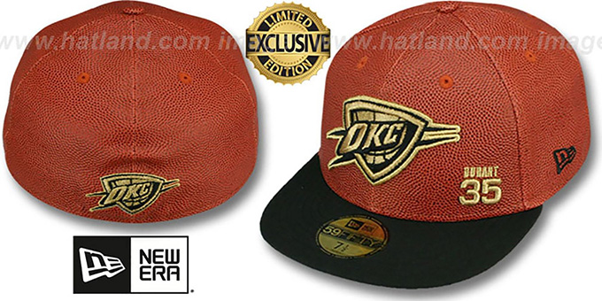 Thunder DURANT 'BASKET-BALLIN' Fitted Hat by New Era : pictured without stickers that these products are shipped with