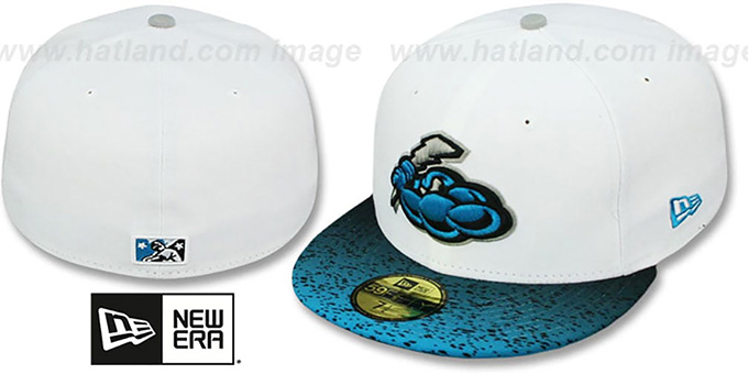 Thunder 'GRADIENT HOOK' Fitted Hat by New Era : pictured without stickers that these products are shipped with