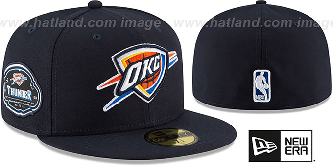 Thunder 'TEAM-SUPERB' Navy Fitted Hat by New Era : pictured without stickers that these products are shipped with