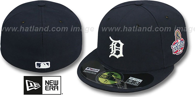 Tigers 2012 'WORLD SERIES HOME' Fitted Hat by New Era : pictured without stickers that these products are shipped with