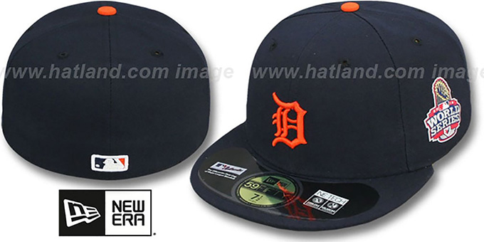 Tigers 2012 'WORLD SERIES ROAD' Fitted Hat by New Era : pictured without stickers that these products are shipped with