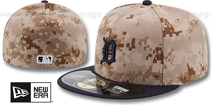 Tigers '2014 STARS N STRIPES' Fitted Hat by New Era : pictured without stickers that these products are shipped with