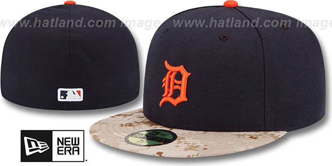 Tigers '2015 STARS N STRIPES' Fitted Hat by New Era : pictured without stickers that these products are shipped with