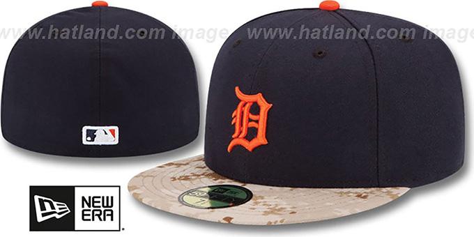 104ef8e2b43bd Tigers 2015 STARS N STRIPES Fitted Hat by New Era