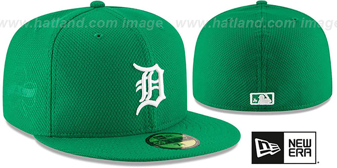Tigers '2016 ST PATRICKS DAY' Hat by New Era : pictured without stickers that these products are shipped with