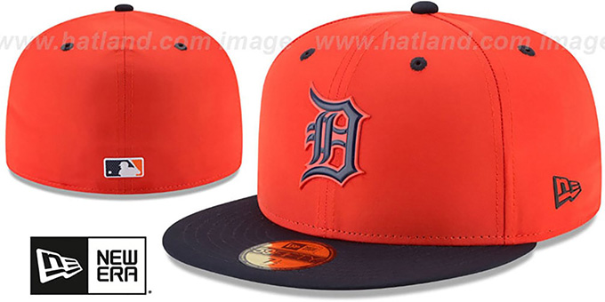 f43cf57c8648e Tigers  2018 PROLIGHT-BP  ROAD Orange-Navy Fitted Hat by New Era