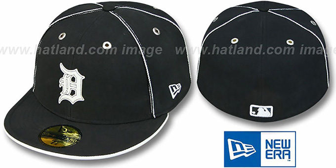 Tigers 'BLACK DaBu' Fitted Hat by New Era : pictured without stickers that these products are shipped with