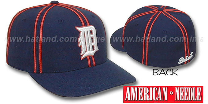Tigers COOPERSTOWN 'TRACKSIDE' Hat by American Needle : pictured without stickers that these products are shipped with