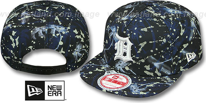 Tigers 'GLOWSPECK SNAPBACK' Hat by New Era : pictured without stickers that these products are shipped with