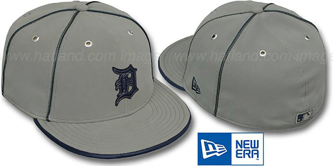 Tigers 'GREY DaBu' Fitted Hat by New Era : pictured without stickers that these products are shipped with