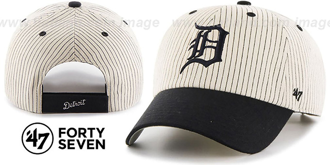Tigers 'HOME-RUN PINSTRIPE STRAPBACK' Hat by Twins 47 Brand : pictured without stickers that these products are shipped with