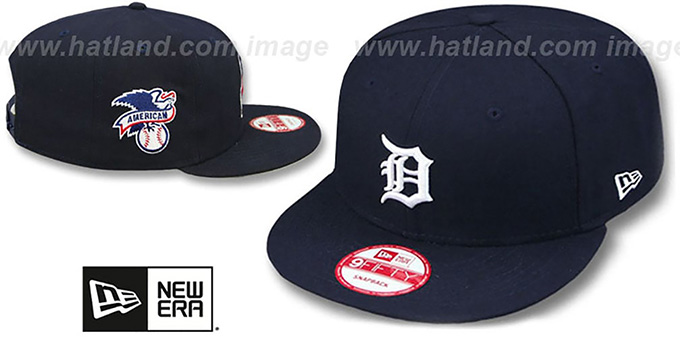 Tigers 'LEAGUE REPLICA HIOME SNAPBACK' Hat by New Era : pictured without stickers that these products are shipped with