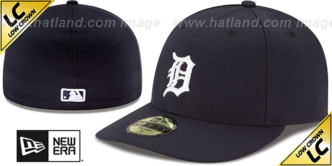 Tigers 'LOW-CROWN' HOME Fitted Hat by New Era : pictured without stickers that these products are shipped with