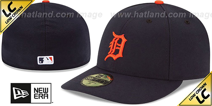 Tigers 'LOW-CROWN' ROAD Fitted Hat by New Era : pictured without stickers that these products are shipped with