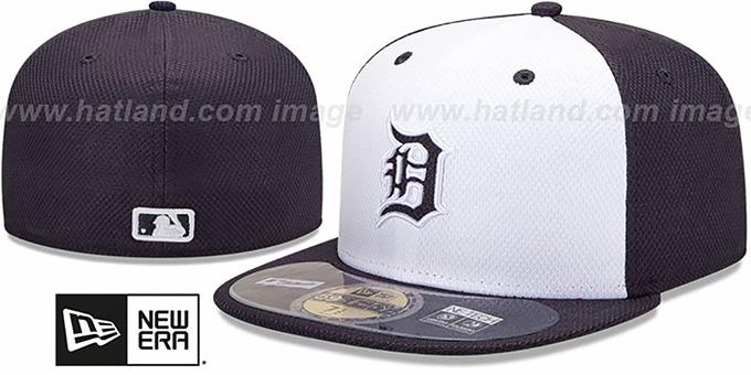 hot sale online 01305 f8444 Tigers  MLB DIAMOND ERA  59FIFTY White-Navy BP Hat by New Era